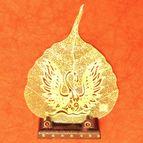Gold plated Leaf Swan