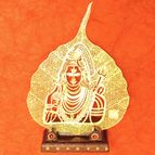 Gold plated leaf lord Shiva