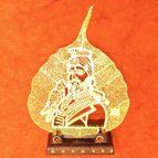 Gold plated leaf Guru Gobind Singh