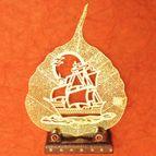 Gold plated leaf Ship