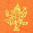 Bookmark dancing Ganesha
