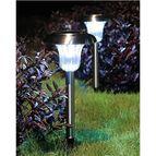 Solar Garden Stainless Steel Light with Auto On-Off Sensor EC-S1
