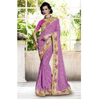 Georgette Pink Color Saree New Arrival