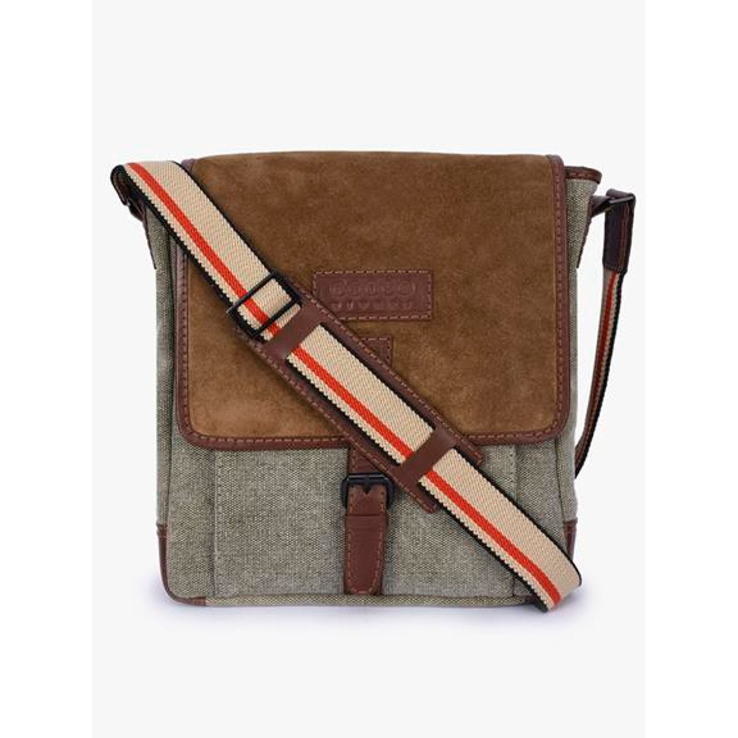 Handmade Phive Rivers Men/'s Leather /& Canvas Charcoal /& Tan Laptop Bag Briefcase