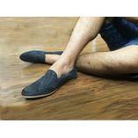 Grey Stylish Loafer Shoe