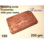 Wedding invite-Chocolate Mould