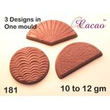 3 ribbed designs-Chocolate Mould