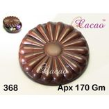 Ribbed round flower-Chocolate Mould