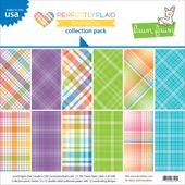 "Perfectly Plaid Rainbow - Collection Pack 12""X12"" 12/Pkg"
