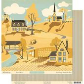 "Gravel Road - Farmhouse Collection - 25 Pcs of 12"" x 12"" Paper"