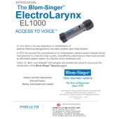 Blom Singer Electrolarynx EL1000 Shreyaas