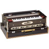 SG Musical Harmonium - 3 Reeds, 9 Scale Canger, Dark Mahogany Color