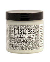 Tim Holtz Distress Crackle Paint Clear Rock Candy 4oz. Jar -