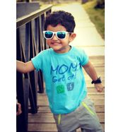 Mom get off FB and Watsapp - Organic cotton tee for toddlers