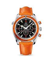 Omega Seamaster Planet Ocean Orange Leather