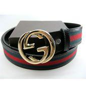 Gucci Signature Belt Golden Buckle