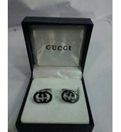 Gucci Logo Silver Cufflinks