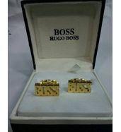 Hugo Boss Logo Gold Cufflinks