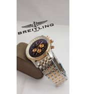 Breitling Dual Tone Silver Chain Watch
