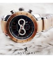 Bvlgari Golden and Silver Luxury Watch