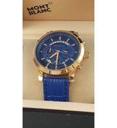 Mont Blanc Leather Strap Luxury Watch