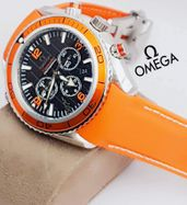 Omega Leather Strap Luxury Watch