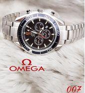 Omega Silver Chain Luxury Watch
