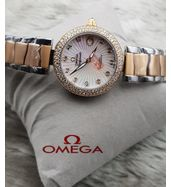Omega Dual Tone Chain Ladies Luxury Watch