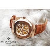 Patek Philippe Tan Brown Leather Strap Luxury Watch