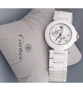 Cartier White Ladies Watch