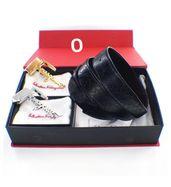 Salvatore Ferragamo Double Buckle Leather Belt