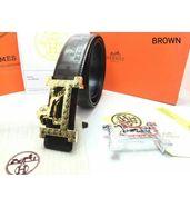 Hermes Double Buckle Leather Belt