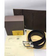 Louis Vuitton Formal Black Leather Belt