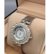 Chopard Silver Chain with White Dial Ladies Watch