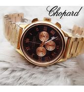 Chopard Golden Chain with Black Dial Watch