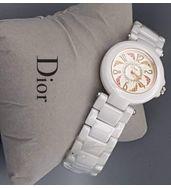 Christian Dior White Chain Ladies Watch