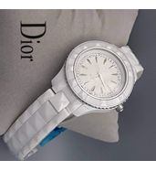 Christian Dior White Chain Ladies Watch
