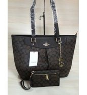 Coach Leather Handbag with Ladies Wallet