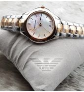 Emporio Armani Dual Tone Ladies Watch