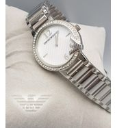 Emporio Armani Silver Chain Ladies Watch
