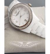 Emporio Armani White Chain Ladies Watch