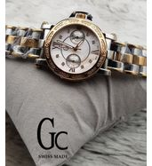 Guess Collection Silver and Golden Chain Ladies Watch