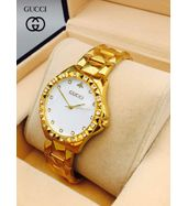 Gucci Full Golden Chain Ladies Watch