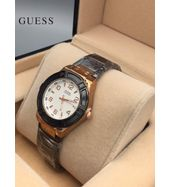 Guess Black Chain with Golden Dial Ladies Watch