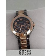 Guess Black and Golden Chain Ladies Watch