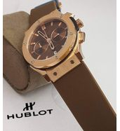 Hublot Brown Leather Strap Watch