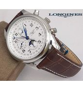 Longines Brown Leather Strap Watch