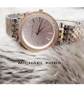 Michael Kors Dual Tone with White Dial Ladies Watch