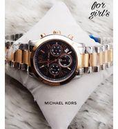 Michael Kors Dual Tone with Black Dial Ladies Watch