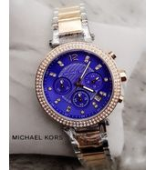 Michael Kors Dual Tone with Blue Dial Ladies Watch